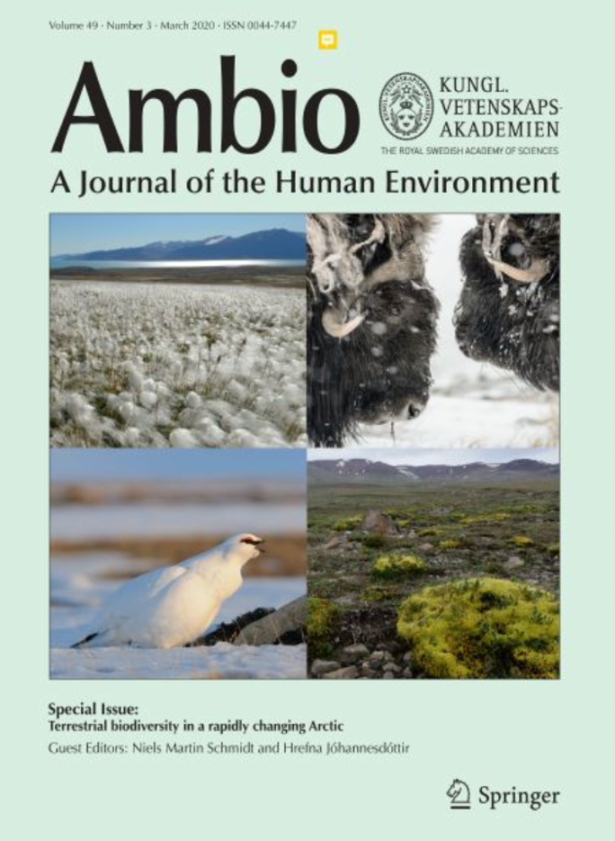 Front page of Ambo's special edition Terrestrial biodiversity in a rapidly changing Arctic. Photo: Ambio